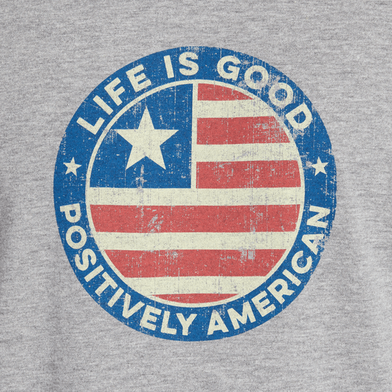 Men's Positively American Coin Hooded Long Sleeve Crusher Tee