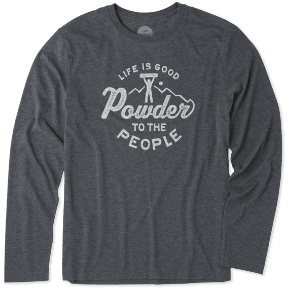 Men's Powder To The People Long Sleeve Cool Tee