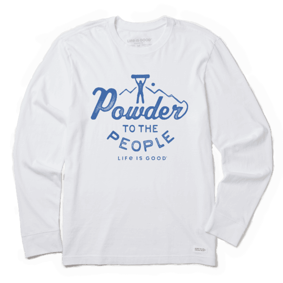 Men's Powder to the People Long Sleeve Crusher Tee