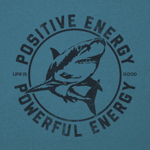 Men's Powerful Energy Shark Long Sleeve Cool Tee