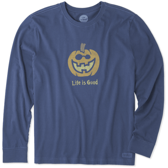 Men's Pumpkin Long Sleeve Crusher Tee