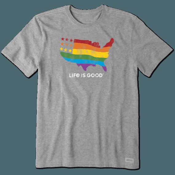 Men's Rainbow Map Crusher Tee
