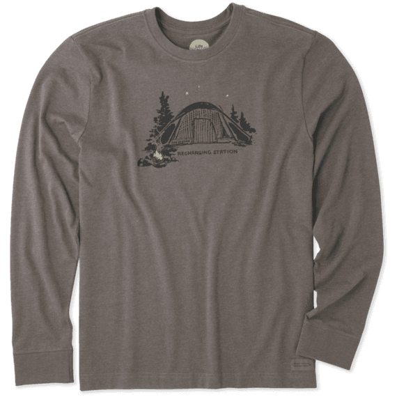 Men's Recharging Station Long Sleeve Crusher Tee