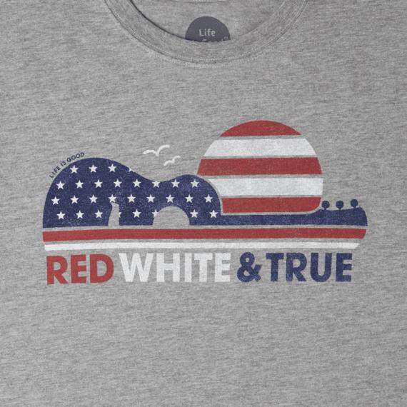 Men's Red White & True Crusher Tee