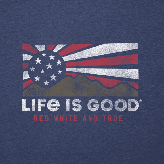 Men's Red White & True Mountains Cool Tee