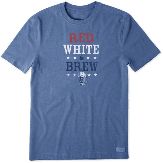 Men's Red White Brew Crusher Tee