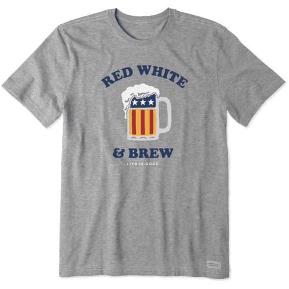 Men's Red, White, and Brew Crusher Tee