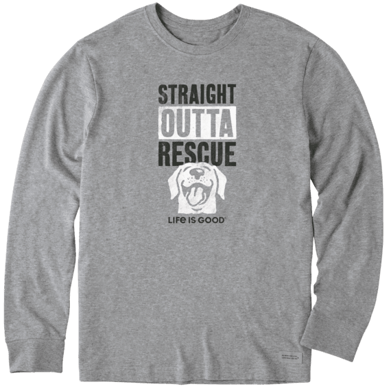 Men's LIG Rescue Dog Long Sleeve Crusher Tee