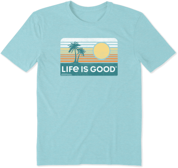 Men's Retro Palm & Sun Cool Tee