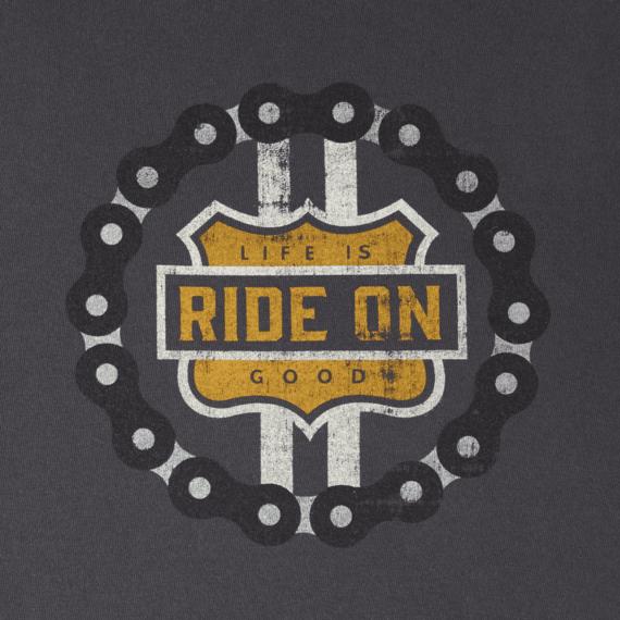 Men's Ride On Bike Shield Crusher Tee