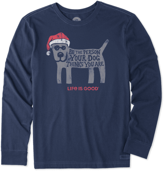 Men's Rocket Holiday Long Sleeve Crusher Tee