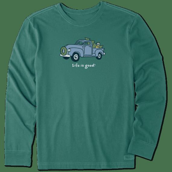 Men's Rocket Holiday Truck Long Sleeve Vintage Crusher Tee