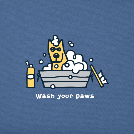 Men's Rocket Wash Your Paws Crusher Tee