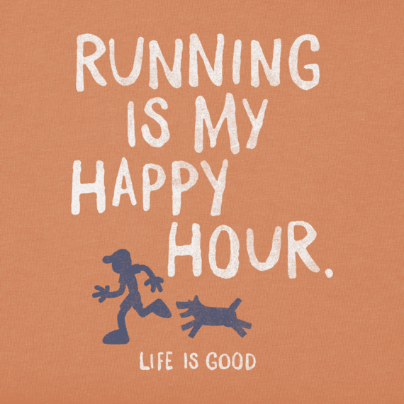 Men's Running Is My Happy Hour Crusher Tee