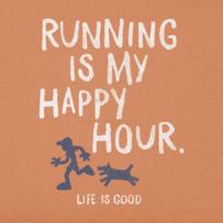 Men's Running Is My Happy Hour Crusher Tee
