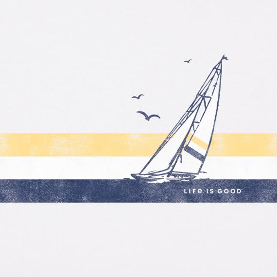 Men's Sail Stripes Crusher Tee