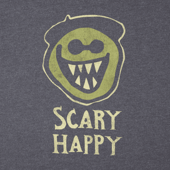 Men's Scary Happy Long Sleeve Crusher Tee