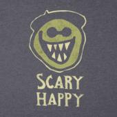 Men's Scary Happy Long Sleeve Crusher Tee