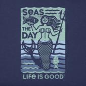Men's Seas The Day Mermaid Crusher Tee