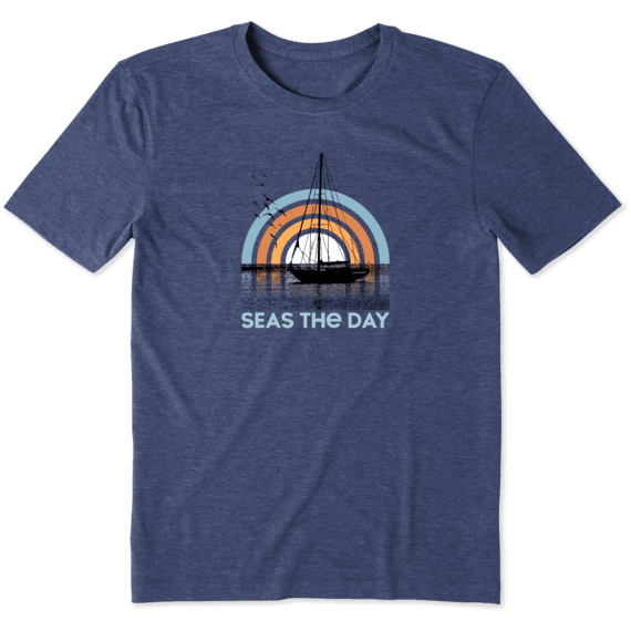 Men's Seas the Day Sailboat Cool Tee