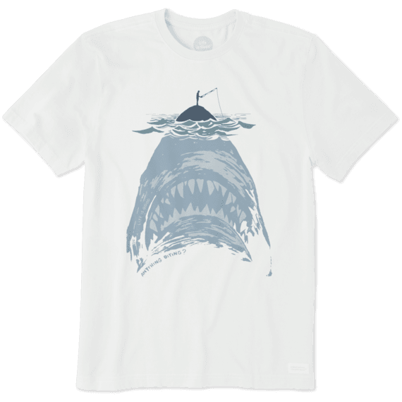 4a5369b430eb09 Images. Men's Shark With Fisherman Crusher Tee