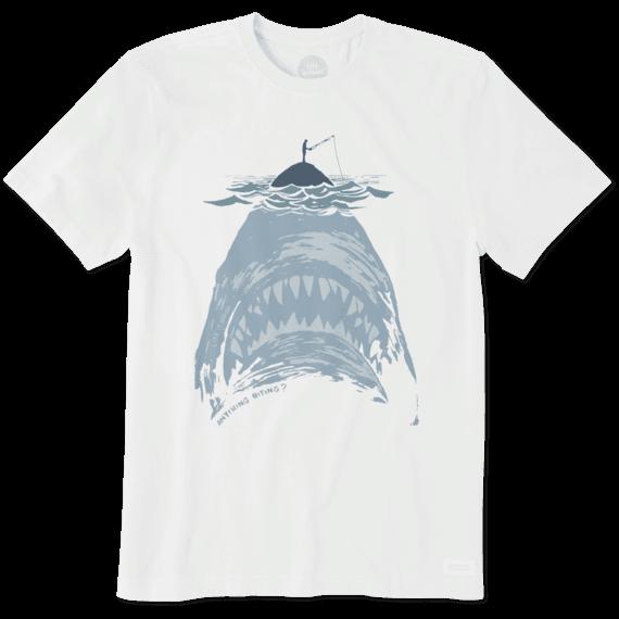 Men's Shark With Fisherman Crusher Tee