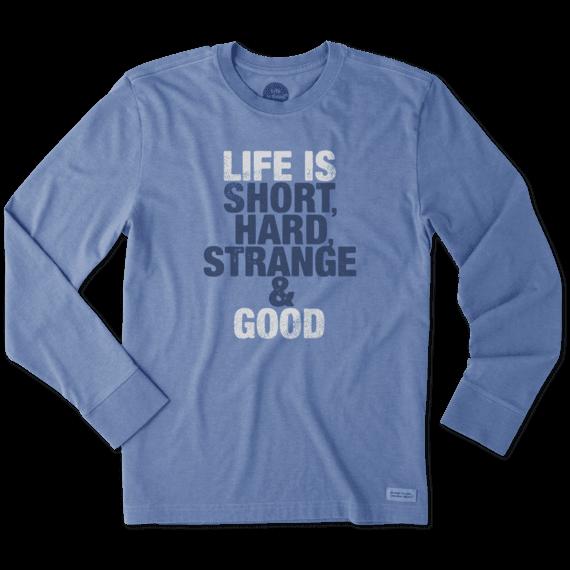 Men's Short, Hard, & Strange Long Sleeve Crusher Tee