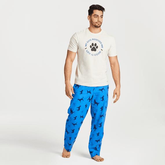 Men's Silhouette Dog Print Classic Sleep Pant