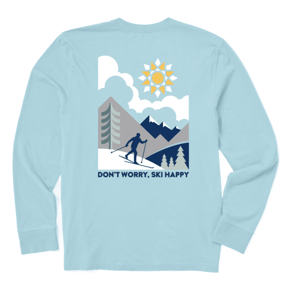 Men's Ski Happy Scenic Long Sleeve Crusher Tee