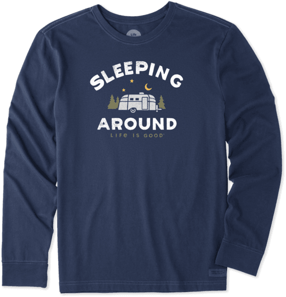 Men's Sleeping Around Long Sleeve Crusher Tee