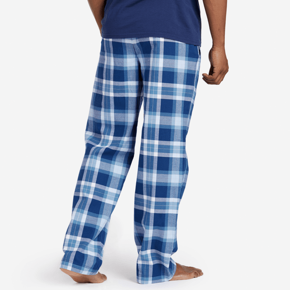 Men's Sleepy Blue Plaid Classic Sleep Pant