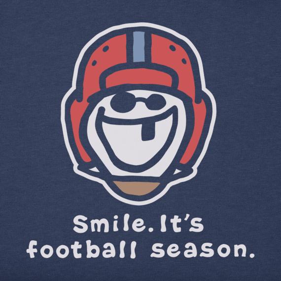 Men's Smile, It's Football Season Vintage Crusher Tee