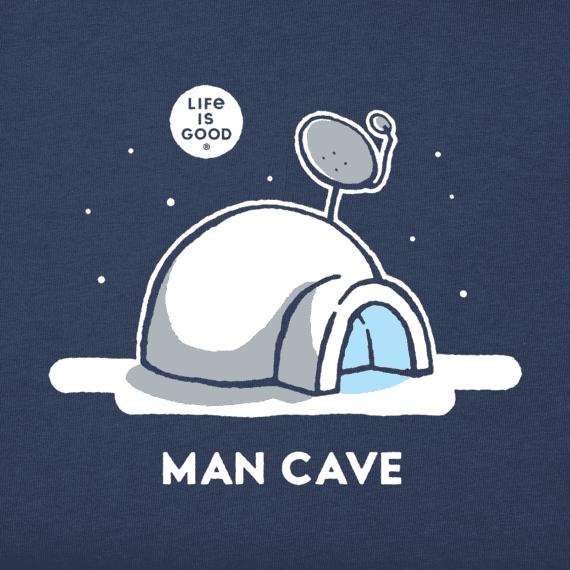 Men's Snow Man Cave Long Sleeve Crusher Tee