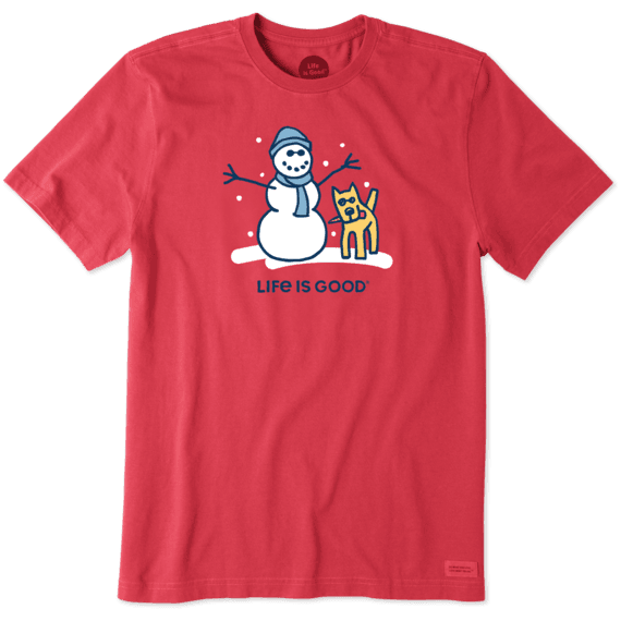 Men's Snowman And Rocket Crusher Tee