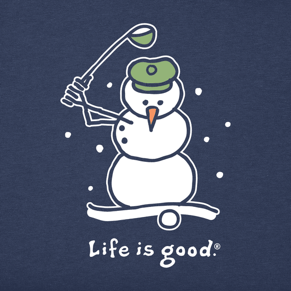 Men's Snowman Golf Long Sleeve Crusher Tee