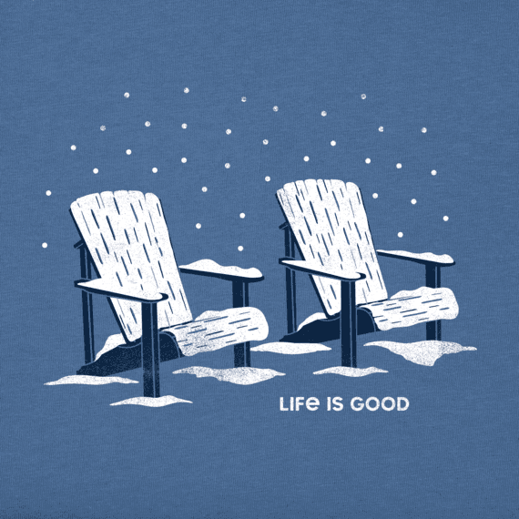 Men's Snowy Chairs Long Sleeve Crusher Tee