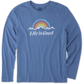 Men's Snowy Mountains Long Sleeve Smooth Tee