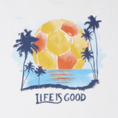 Men's Soccer Palm Trees Smooth Tee