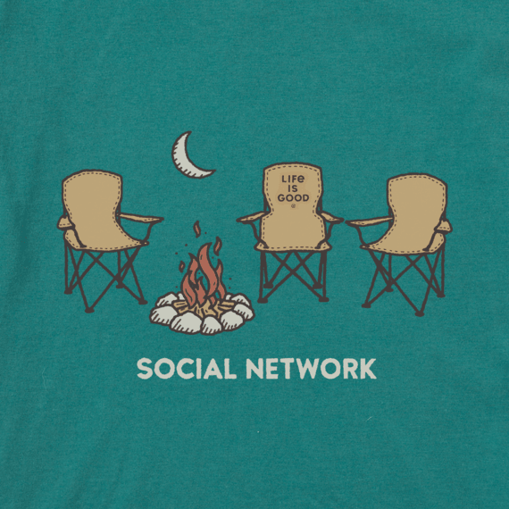 Men's Social Network Camp Crusher Tee