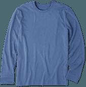 Men's Solid Crusher Tee Long Sleeve