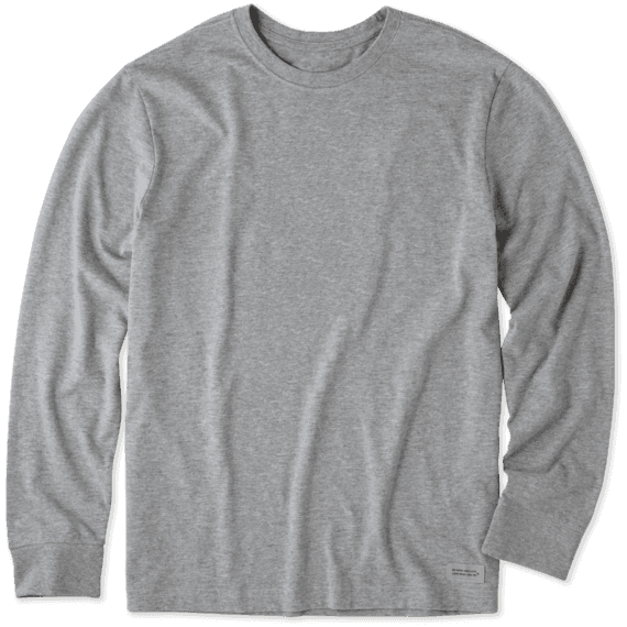 Men's Solid Crusher Tee Long Sleeve