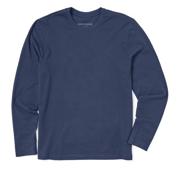 Men's Solid Long Sleeve Crusher Tee