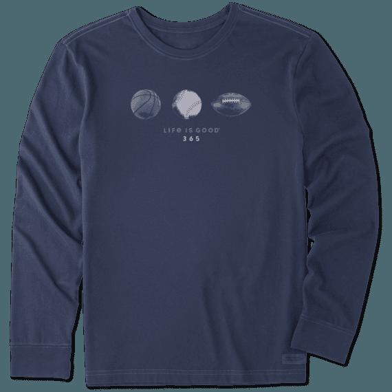 Men's Sports 365 Long Sleeve Crusher Tee