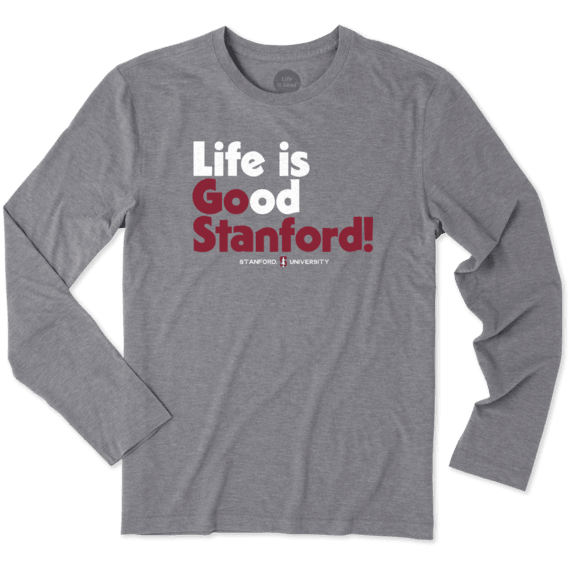 Men's Stanford Life is Good Long Sleeve Cool Tee