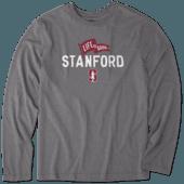 Men's Stanford Pennant Long Sleeve Cool Tee