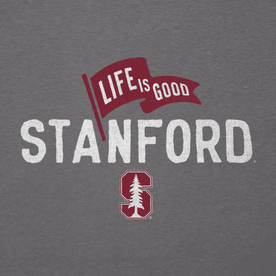 Men's Stanford Pennant Long Sleeve Cool Tee