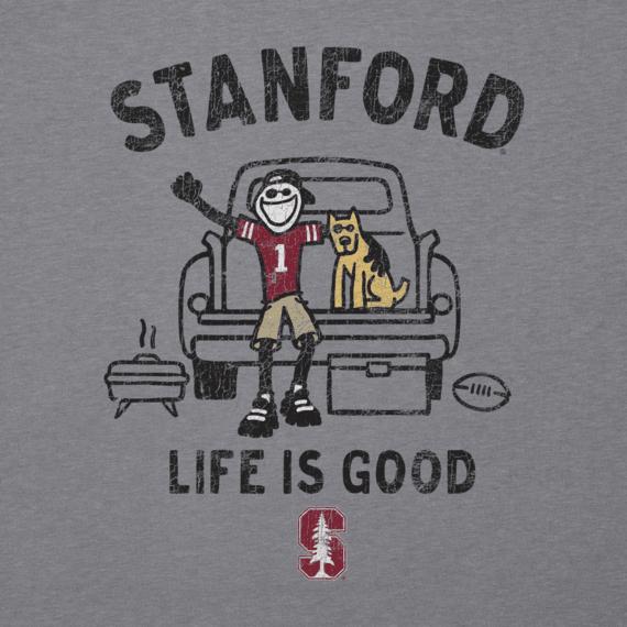 Men's Stanford Tailgate Jake Long Sleeve Cool Tee