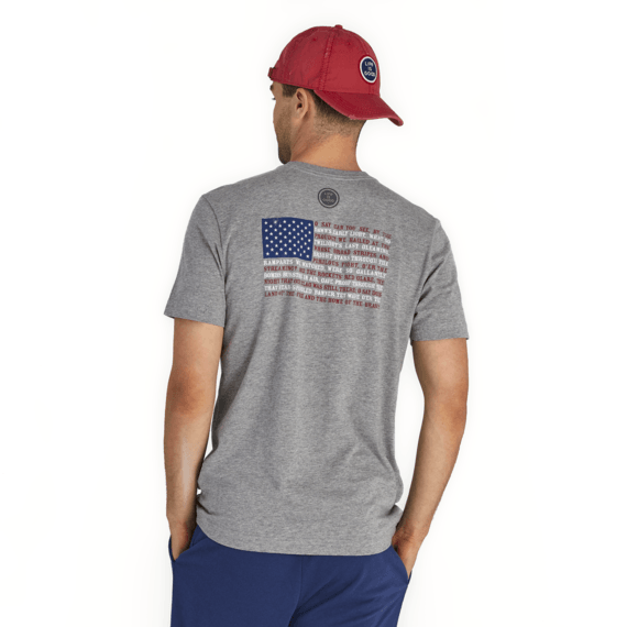 Men's Star Spangled Banner Flag Crusher Tee