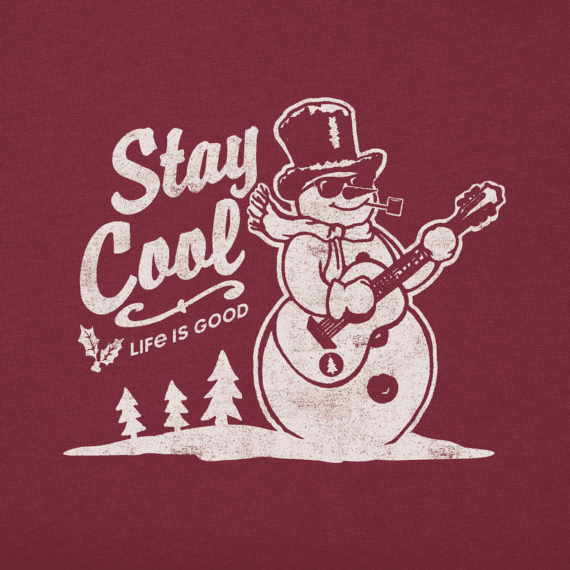 Men's Stay Cool Snowman Long Sleeve Crusher Tee