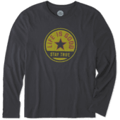 Men's Stay True Coin Long Sleeve Smooth Tee